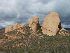 Rock Climbing Photo: Texas Canyon, on a stormy day, from the south.