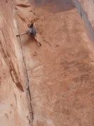 Rock Climbing Photo: Steve T leading Top 40.