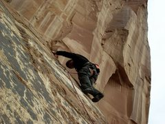 Rock Climbing Photo: Leading Brown Banana.  Photo by Lucy Clark.
