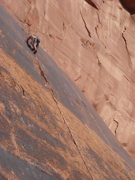 Rock Climbing Photo: Steve leading Crack 3.
