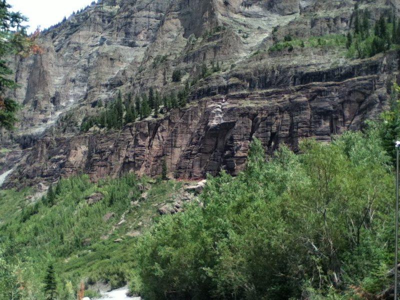 Rock Climbing Photo: Pipe Line wall Telluride