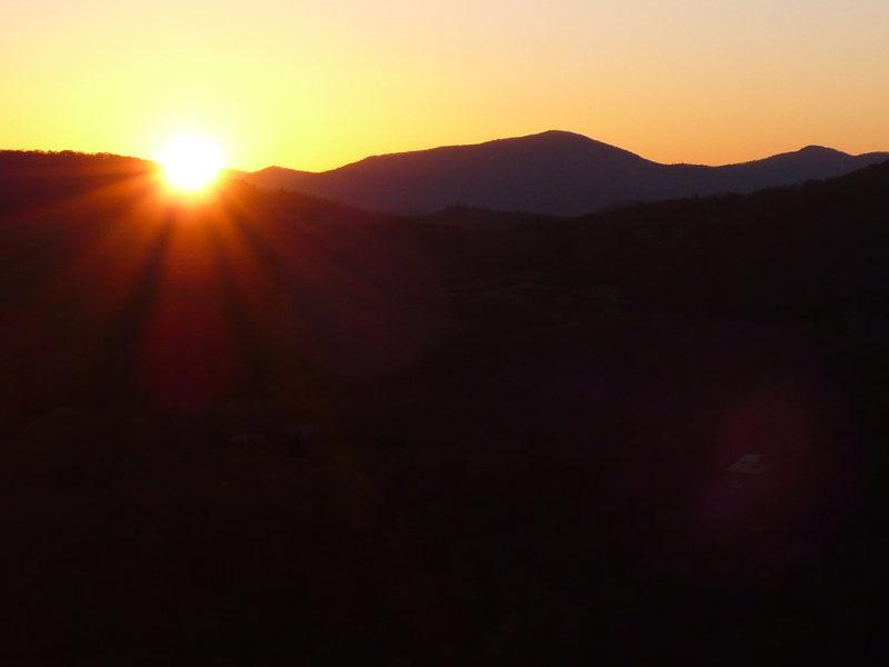 Rock Climbing Photo: Sunset.