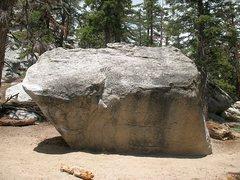 Rock Climbing Photo: Abba Boulder (aka The Cube), Tramway