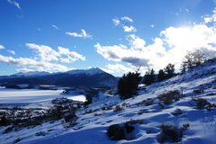 Rock Climbing Photo: Tenmile Range and Lake Dillon, with Quandary at fa...