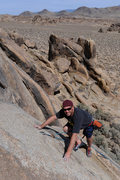 Rock Climbing Photo: A climber from San Diego nears the anchor atop Rhy...