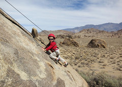 Rock Climbing Photo: Wesley (at 3 years old) climbs Fiddlin' Buckaroo, ...