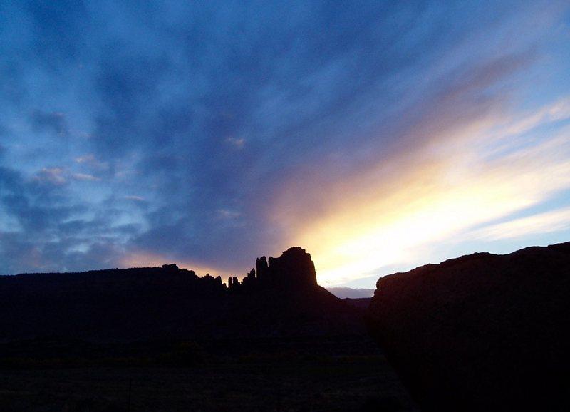 Sunset over Bridger Jacks