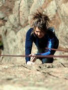 Rock Climbing Photo: 5.9 Crack to the right of Nip/Tuck