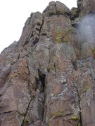 Rock Climbing Photo: A better shot of the climb.  The big crack near th...