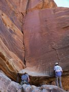 Rock Climbing Photo: What a fun lie back...for those that can!