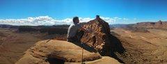 Rock Climbing Photo: Atop Sunflower Tower 5.10+