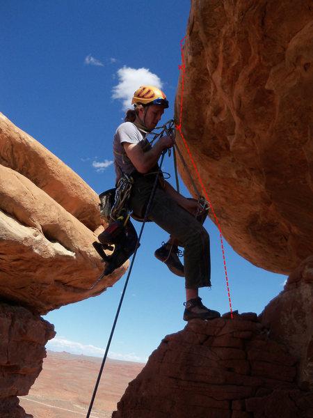 Rock Climbing Photo: Zac on FA