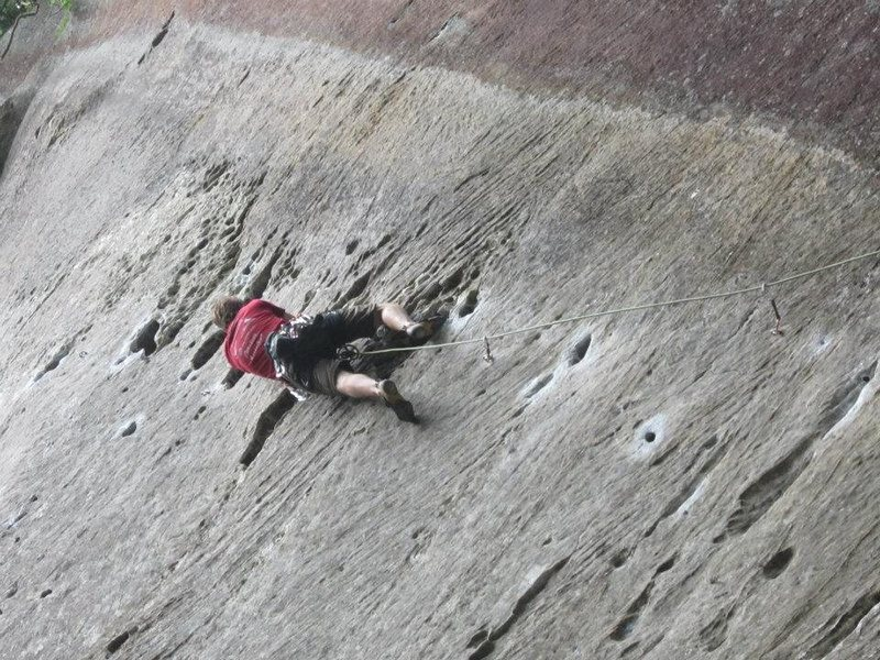 Rock Climbing Photo: Big moves