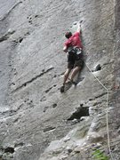 Rock Climbing Photo: Long reach