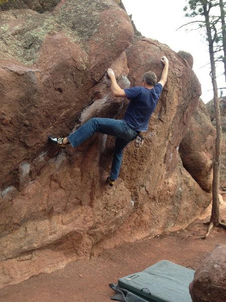 Rock Climbing Photo: Pratt's Overhang crux begins here....