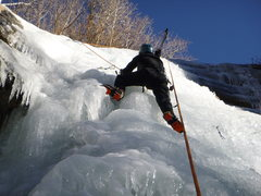 Richard on the icefall on January 9, 2013.