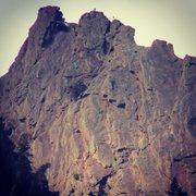 "Rock Climbing Photo: On the last ""false summit"" tower."