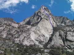 Rock Climbing Photo: From right to left- Mission Control (in blue) 5.11...