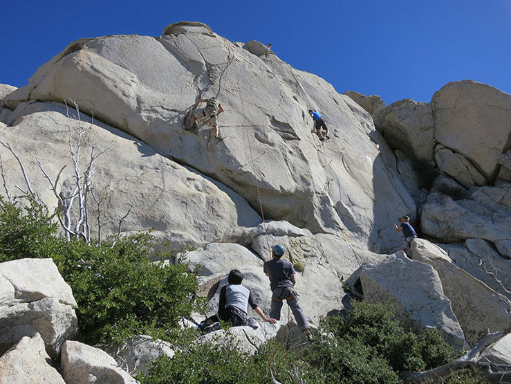 Rock Climbing Photo: Climbers top-roping the Upper Tier Railing Routes ...