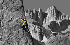 Rock Climbing Photo: Cosmic on the Sharks Fin Arete