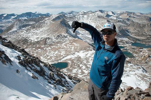 Rock Climbing Photo: Bailing near summit of Mt. Agassiz.  Photo by Ryan...
