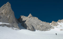 Rock Climbing Photo: Approaching Bear Creek Spire. Photo by Ryan Slayba...