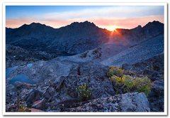 Rock Climbing Photo: Sunrise from Glen Pass, Sierra Nevada
