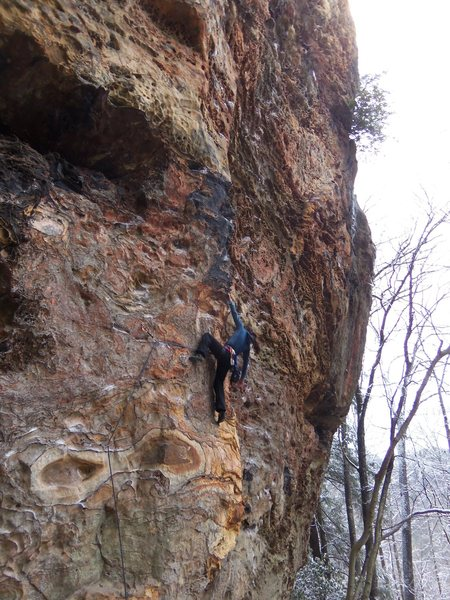 Rock Climbing Photo: Cynthia onsighting Another Doug Reed Route