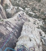 Rock Climbing Photo: The memorable p3, a 4 star pitch!