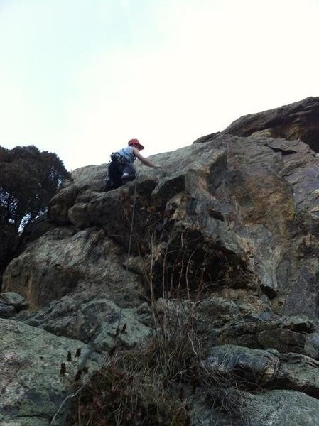 Rock Climbing Photo: The start of Tetherly.
