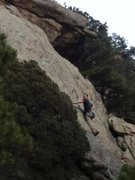 Rock Climbing Photo: The slab section of Tetherly.