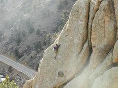 Rock Climbing Photo: Jimbo on Clam Power.