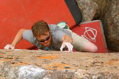 Rock Climbing Photo: Andrew groping crimps.