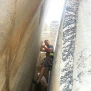 Rock Climbing Photo: Topped out at Kern Slabs. Just being a poser in th...