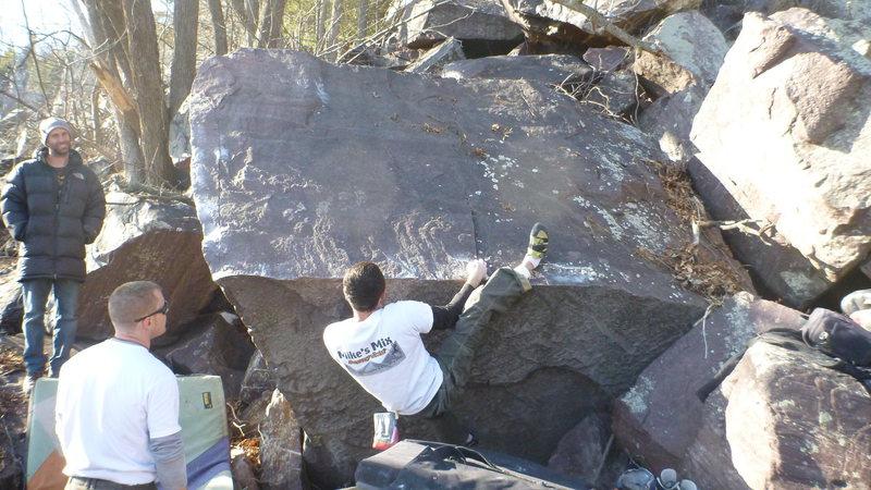 Rock Climbing Photo: Ian on the lip.