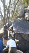 Rock Climbing Photo: Ian flowing up the arête.
