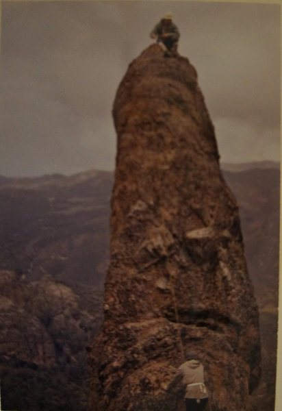 Rock Climbing Photo: My father on top, from his 60s photo album