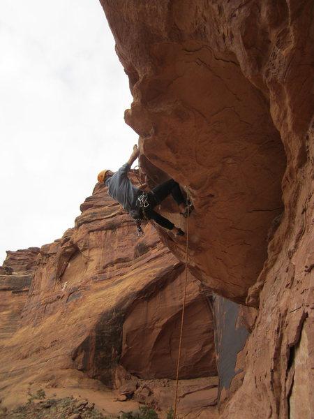 Rock Climbing Photo: drake on the sharp end