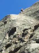 "Rock Climbing Photo: Mammoth Local Susanna leads ""The Bleeder&quot..."