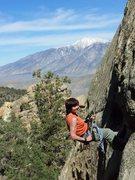 Rock Climbing Photo: Susanna rappels w/ expansive views after a job wel...