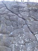 Rock Climbing Photo: Warm-up Crack.