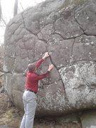 Rock Climbing Photo: Justin at the start.
