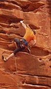 Rock Climbing Photo: amazing route...sandy, but amazing. (Nikon PL510)