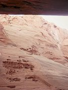 Rock Climbing Photo: Looking out, away from the route. you can see the ...