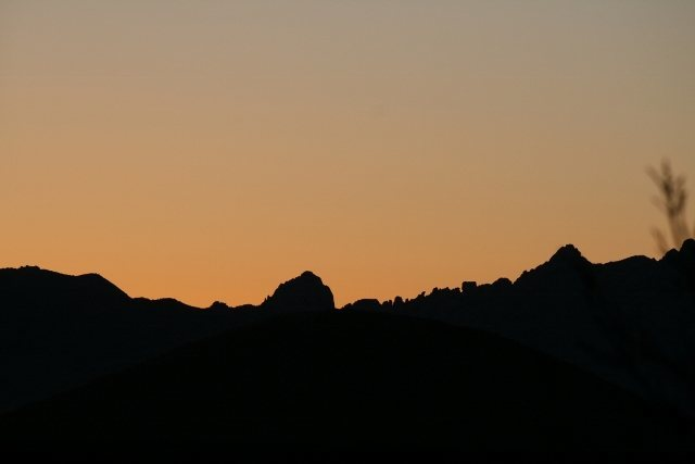 Rock Climbing Photo: Cochise Stronghold Sunset in Feb 2013 (From Hummin...