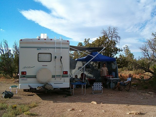 Roughing it, Jacks Canyon