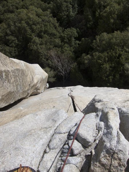 Rock Climbing Photo: View from the top. Look closely and you'll notice ...