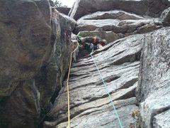 Rock Climbing Photo: Looking up at P3.