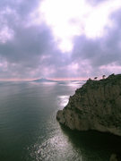 Rock Climbing Photo: Storm at Les Calanques, an awesome sea cliff climb...