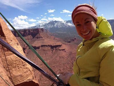 Rock Climbing Photo: hanging on the belay of Fine Jade, UT.